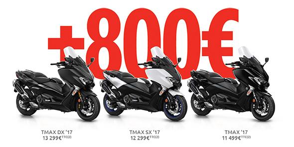 Avantage de 800 € sur la gamme TMAX 2017 !